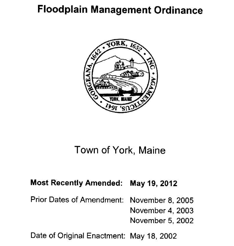Floodplain Management Ordinance Cover