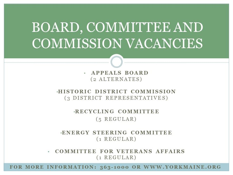 Board vacancies 3