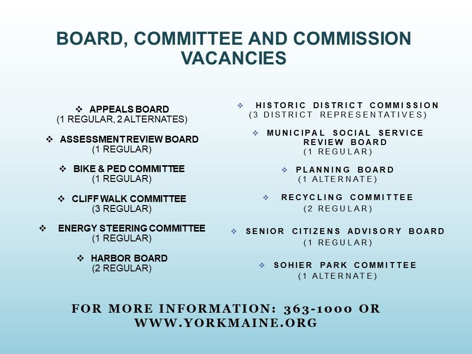 Board vacancies 7 2 2020
