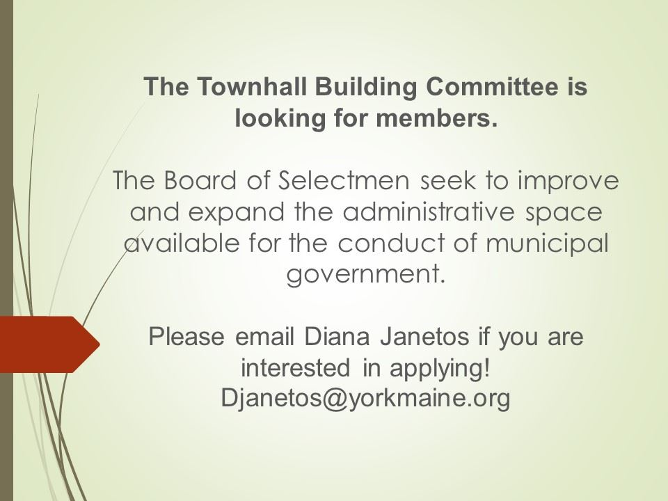 town hall building com looking for members