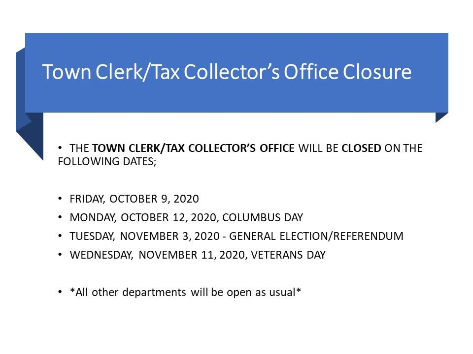 town clerk closure