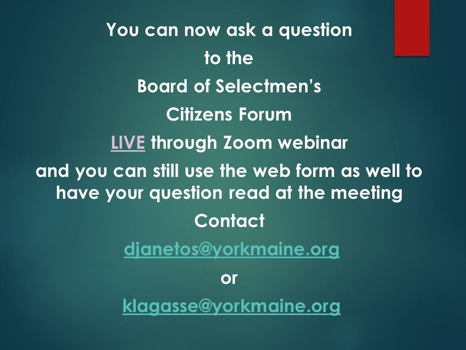 citizens forum