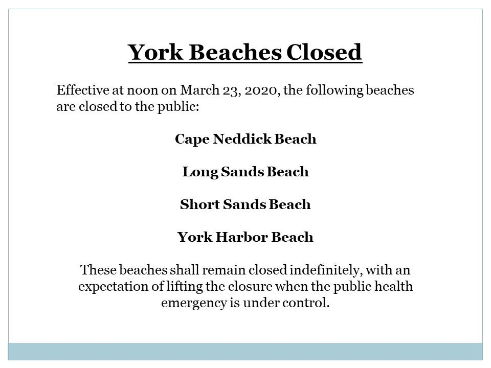 beach closure